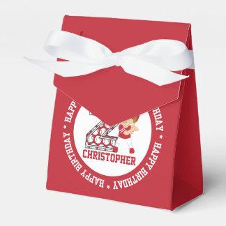 2do rojo personalizado del talud del béisbol del cajas para regalos