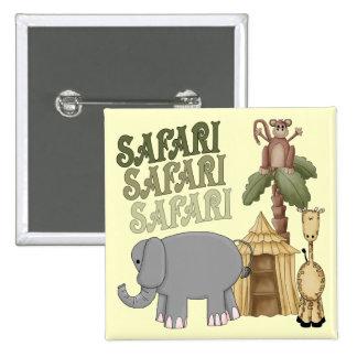 2do Safari del cumpleaños Pin Cuadrado
