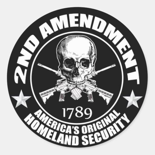2do Seguridad de la patria original de América de Pegatina Redonda
