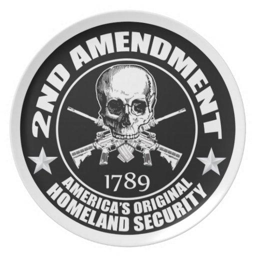 2do Seguridad de la patria original de América de  Platos De Comidas