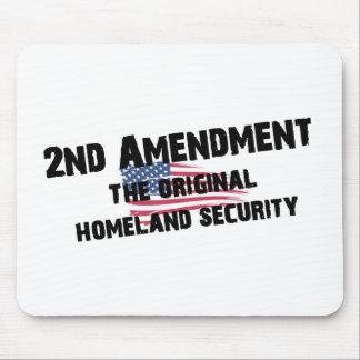 2do Seguridad de patria original de la enmienda Tapetes De Ratón