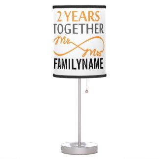 2do Sr. y señora Infinity Personalized del Lámpara De Mesa