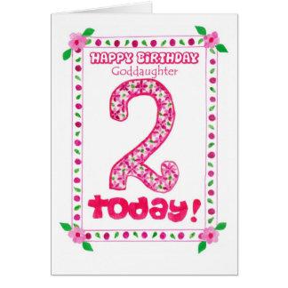 2do Tarjeta de cumpleaños para una ahijada