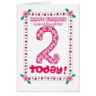 2do Tarjeta de cumpleaños para una nieta