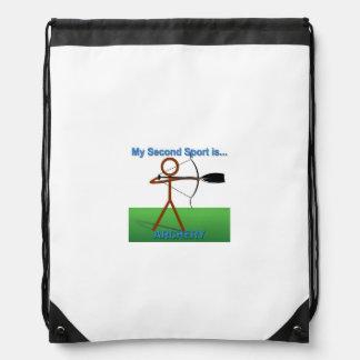 2do tiro al arco del bolso de lazo del deporte del mochilas