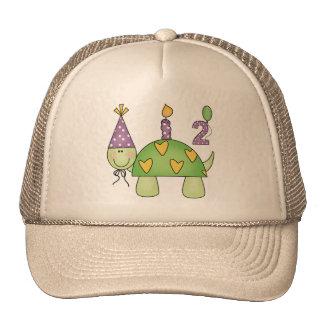 2do Tortuga del cumpleaños Gorros Bordados