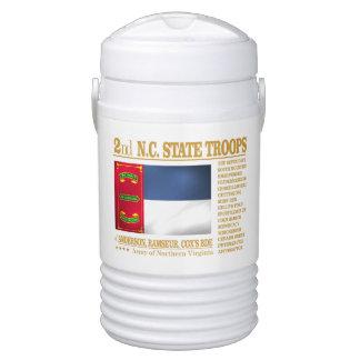 2do Tropas del estado del NC (BA2) Enfriador De Bebida Igloo