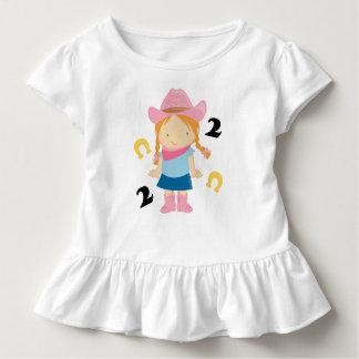 2do Vaquera del cumpleaños camiseta de 2 años Polera