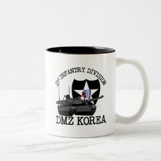 2do Veterinario de la identificación DMZ Corea Taza De Café De Dos Colores