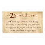 2do Vintage de la enmienda Postales