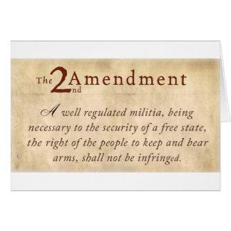 2do Vintage de la enmienda Tarjetas