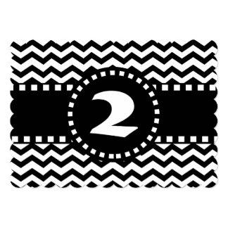 """2do Zigzag blanco y negro W02B de la fiesta de Invitación 5"""" X 7"""""""