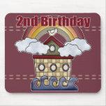 2dos regalos de cumpleaños de la arca alfombrilla de raton