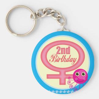 2dos regalos de cumpleaños de los chicas llavero redondo tipo pin