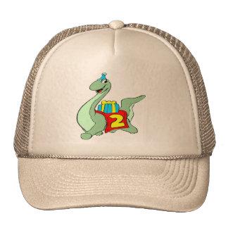 2dos regalos de cumpleaños del dinosaurio gorro