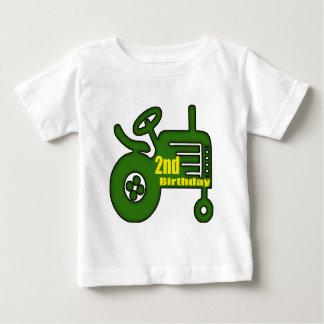 2dos regalos de cumpleaños del tractor playera de bebé