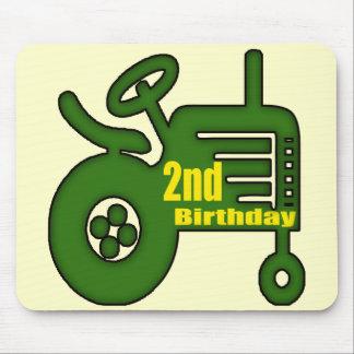 2dos regalos de cumpleaños del tractor tapete de ratón
