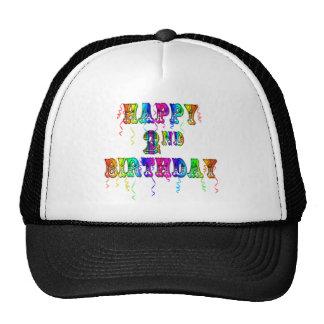 2dos regalos de cumpleaños felices del cumpleaños gorros