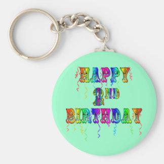 2dos regalos de cumpleaños felices del niño del cu llavero redondo tipo pin