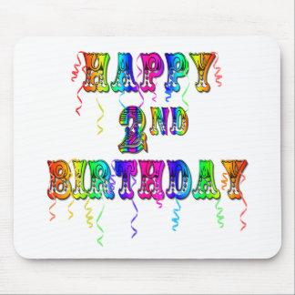2dos regalos de cumpleaños felices del niño del cu mousepads
