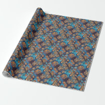 2Fine Autism Artist Shells Wrapping Paper