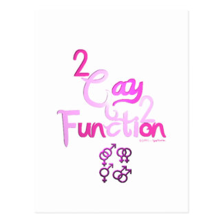 2gay2function postcard