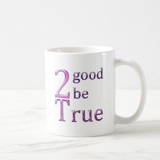 2good2betrue_pink taza básica blanca