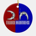 2h (dos manos) ornamento de navidad