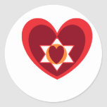 2heart round stickers