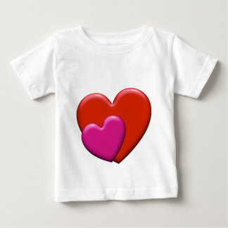 2hearts-pink infant t-shirt