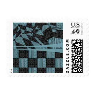 2in1 pattern mix, George aqua Stamp