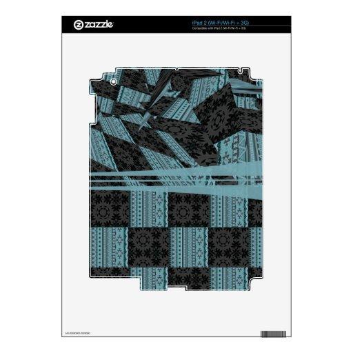 2in1 pattern mix, George,aqua iPad 2 Decals