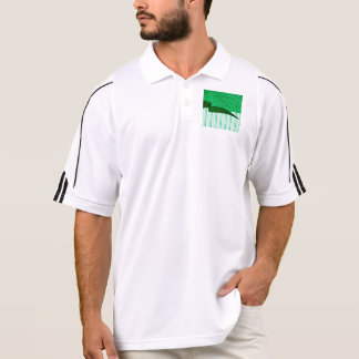 2in1 Pattern Mix Serena,green Polo Shirt
