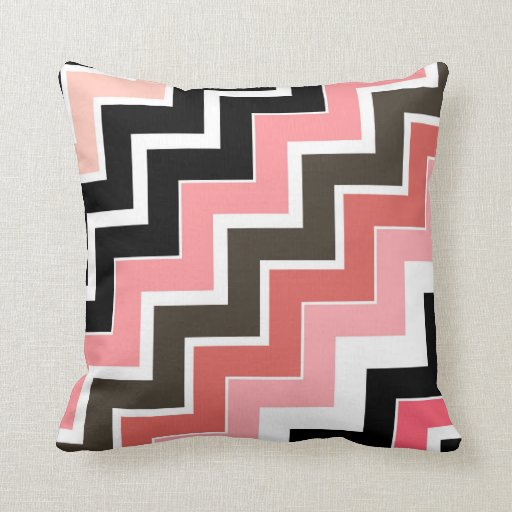 2in1 Pink Earth ZigZag Pattern Cushion