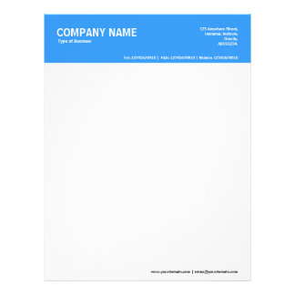 2in Color Header - Blue 3399FF Letterhead Template