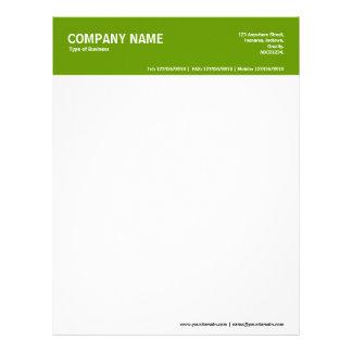 2in Color Header - Green 669900 Letterhead
