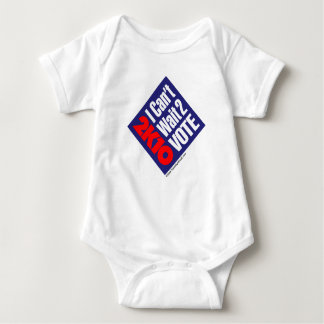 2K10 I Can't Wait 2 Vote Baby Bodysuit
