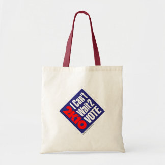 2K10 I Can't Wait 2 Vote Canvas Bag