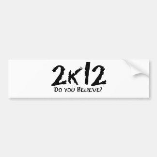 2k12 pegatina de parachoque