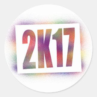 2k17 2017 classic round sticker