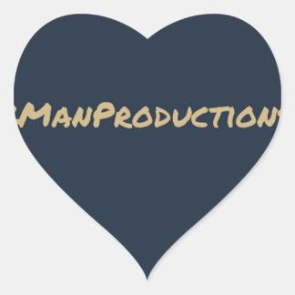 2ManProductions Pegatina En Forma De Corazón