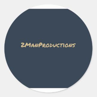 2ManProductions Pegatina Redonda