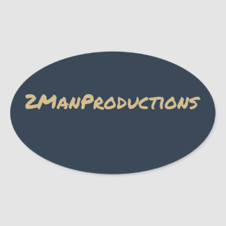 2ManProductions Oval Stickers