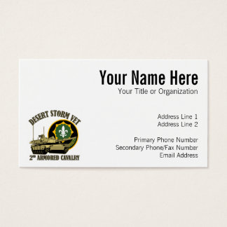2nd ACR Desert Storm Vet M1 Tank Business Card