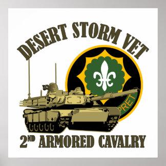 2nd ACR Desert Storm Vet M1 Tank Poster