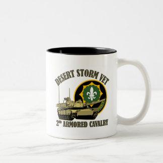 2nd ACR Desert Storm Vet M1 Tank Two-Tone Coffee Mug