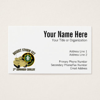 2nd ACR Vet - Desert Storm Bradley Business Card