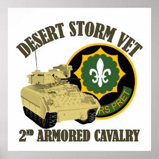 2nd ACR Vet - Desert Storm Bradley Print