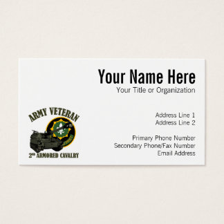 2nd ACR Vet - M109 Howitzer Business Card