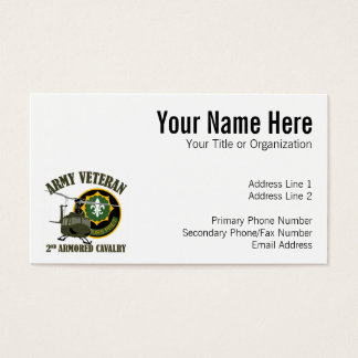 2nd ACR Vet - UH-1 Huey Business Card